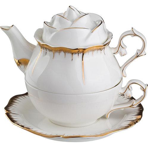 """Чайный набор на 1 перс. 3 пр. """"Цветочная симфония"""",300/200мл. 590-056"""