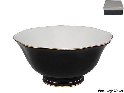 Салатник 15см BLACK в под.уп. Фарфор