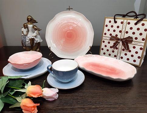 "Чайно-столовый сервиз ""Колор де аква"" 6персон (32пр.) 388-001"