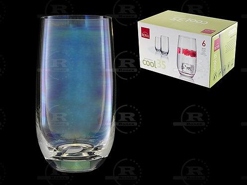 Набор стаканов RONA a.s. 350 см , 6 шт , для воды высокиий Перламутр,