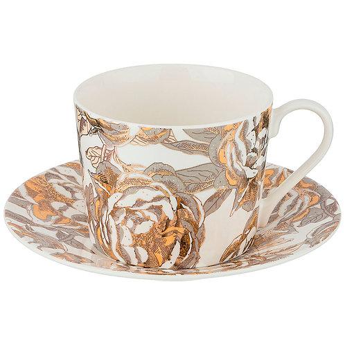 """чайный набор """"golden rose"""" на 1пер. 2пр 240мл, белый"""