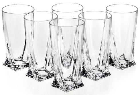 "Набор стаканов для воды ""Квадро"" 350 мл 6шт. 2K936/0/99A44/350"
