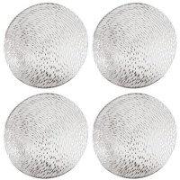 Салфетка сервировочная (подставка под горячее - плейсмат) серебряный круг