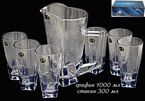 Набор графин 1 л + 6 стаканов 300 мл, ICEBERG