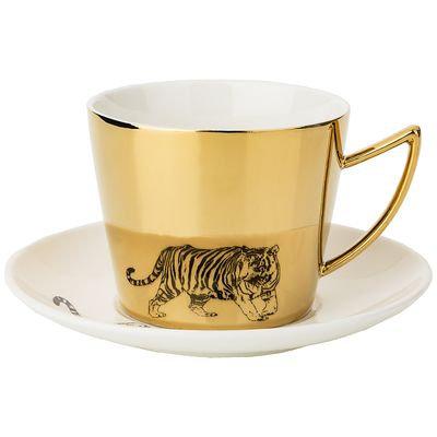"""Чайный набор """"TIGER"""" на 1пре. 2пр. 220мл, золотой. 91-076"""