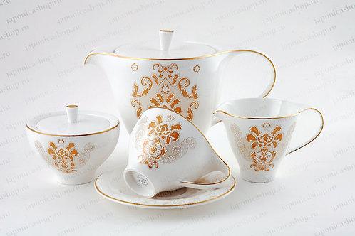"""Чайный сервиз, 27пр., """"Роял Супрем Голд"""", «Royal Porcelain», 9005/17006"""