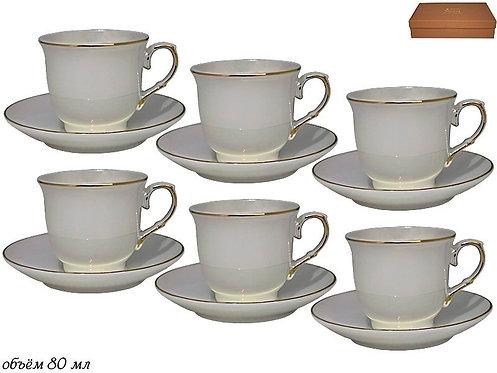 Набор кофейных пар Lenardi Изобэль на 6 персон (12 предметов)