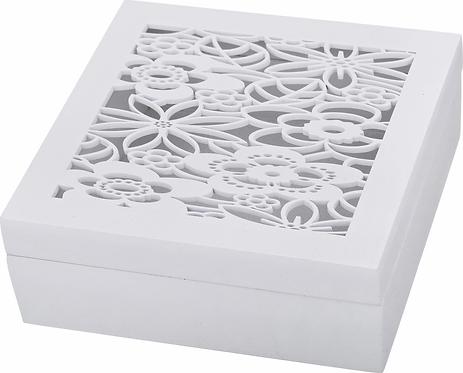 Шкатулка Lefard, белый, 16 х 16 х 6 см, 421-137