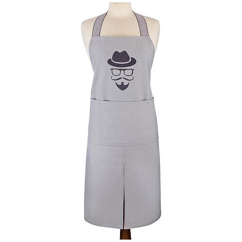 """Фартук """"Хипстер"""" серый, вышивка. 100% Х/Б. 850-638-41"""