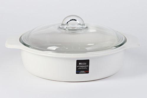 Кастрюля 2,5 л,  белая Vitromax MW852-FJ0002