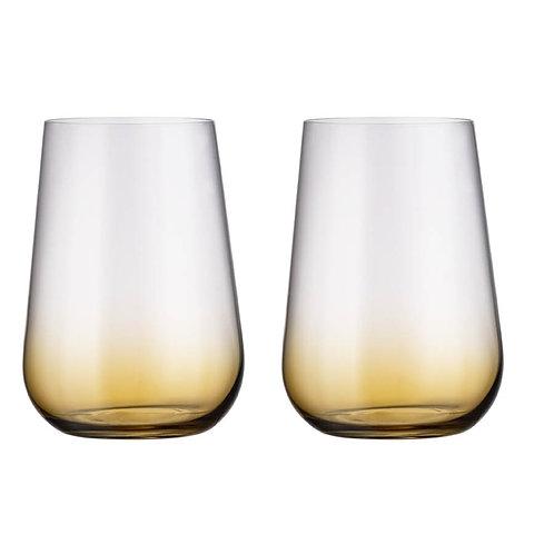 Набор стаканов для воды Амундсен, АРДЕА, Натура, амбер, 470мл 2шт.2se45/72y43/47