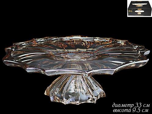 Тортовница на ножке Lenardi Gold 33см 588-220