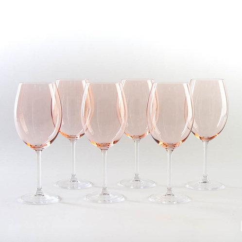 Набор бокалов для вина Гастро, Колибри, Сальмон, 580мл. 4s032/580/72u34
