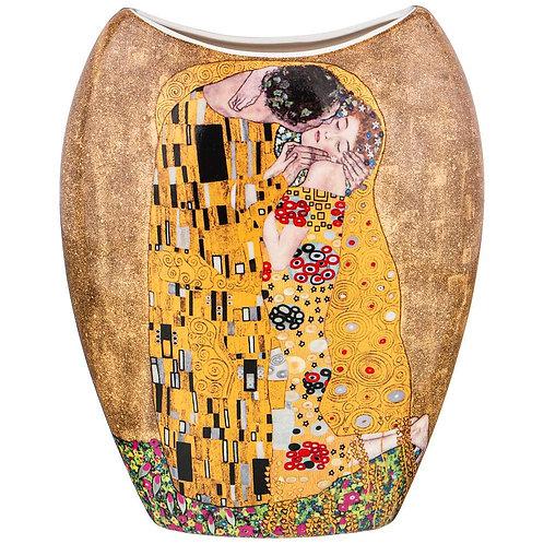 """Ваза """"поцелуй"""" (г. Климт) в=20,5см, золотая. 104-675"""