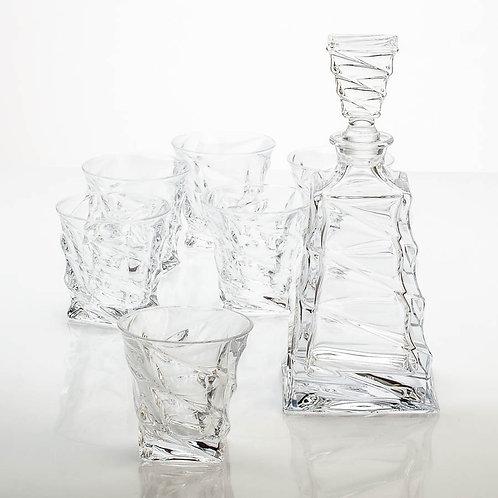 """Виски сет """"Касабланка"""" (1 графин 750 мл 6 стаканов 300мл). 99999/9/99V87/379"""