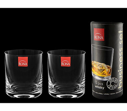 """RONA / Набор стаканов 2 шт для виски """"Business set"""" 390 мл в тубусе"""