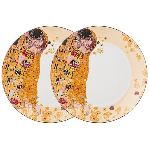 """Набор тарелок 2 пр. """"Поцелуй (Г.Климт) 20,5 см. 104-670"""