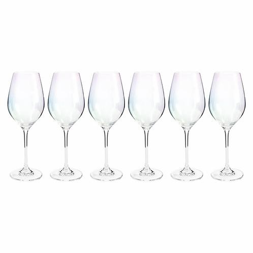 """Набор бокалов для вина """"Celebration"""" Перламутр состоит из шести изящных бокалов"""