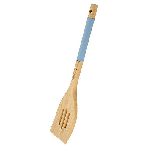 Лопатка с прорезями бамбуковая, 33 см, голубая M04-073-B Guffman