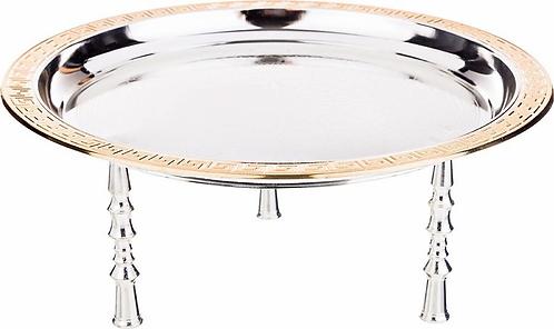 Поднос сервировочный Agness,  серебристый, диаметр 33,5 см920-045,