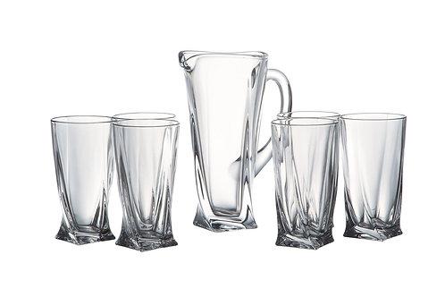 Набор для воды Квадро: Кувшин 1,1л + 6 стаканов 350мл. 99999/9/99A44/100