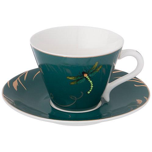 """Чайный набор """"Стрекоза""""  на 1пер. 2пр. 200мл чирок. 754-162"""