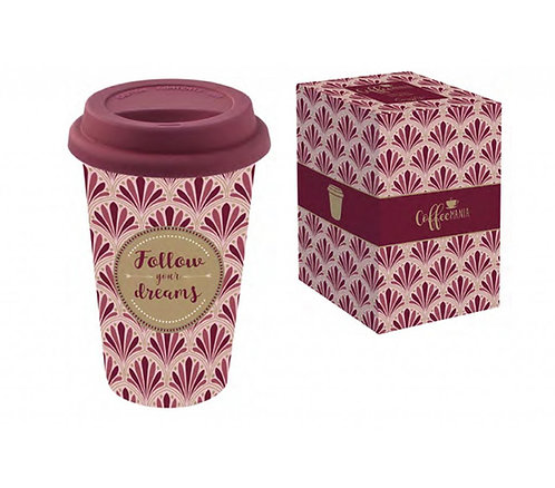 """Кружка 0.35л с крышкой (бордо) """"Travel mug"""" EL-R0129/TM02"""