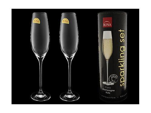Бокалы для шампани в подарочной упаковке ''Тубус'' от завода ''Rona'', Словакия.