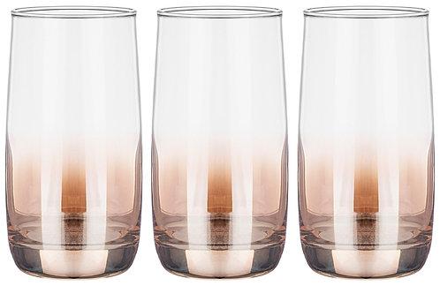 Набор стаканов Lefard Медовый Омбре, 6 штук, 330 мл