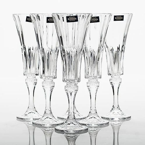 "Набор бокалов для шампанского Crystalite Bohemia ""Wellington"" 160 мл 6 шт."