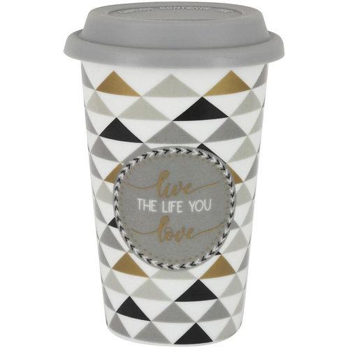 """Кружка 0.35л с крышкой (серая) """"Travel mug"""" EL-R0129/TM06"""