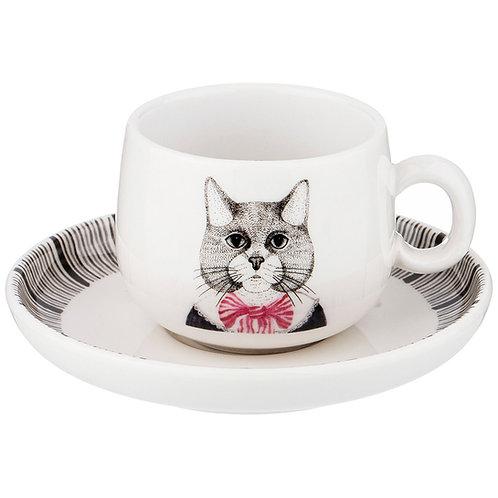 """Кофейная пара lefard """"fashion animals"""" кот, на 1пер. 2пр. 90 мл. 409-137"""