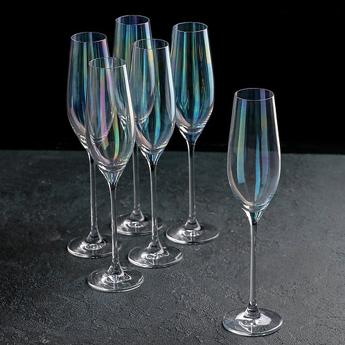 "Бокал для шампанского ""Celebration - Перламутр"", набор 6 шт, Rona.6272/53535/210"