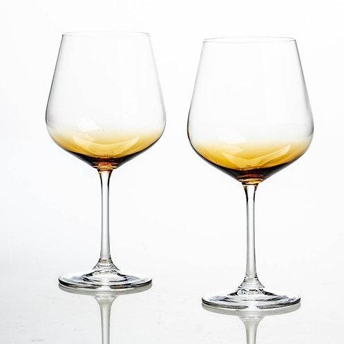 Набор бокалов для вина Дора, СТРИКС, Натура, амбер, 600мл 2шт. 1sf73/72y43/600