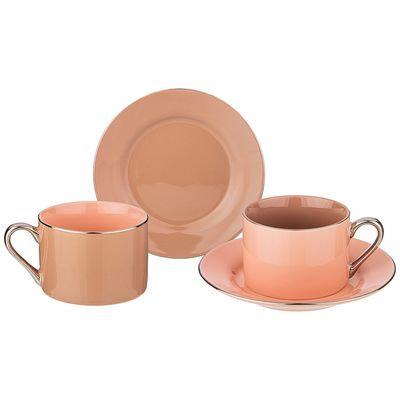 Чайный набор на 4пр., 2 перс. 220 мл. 86-2379