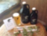 NYS ingredients, Growlers and Pint of beer
