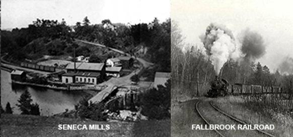 Historic photos of Seneca Mills and Fallbrook Railroad