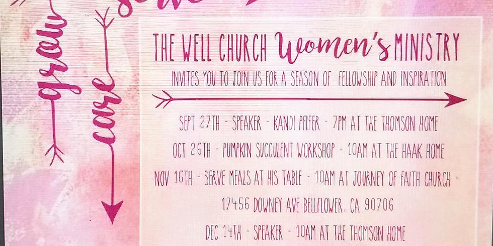 Women's Ministry: Serving at His Table