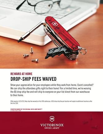 drop ship fees waived victorinox
