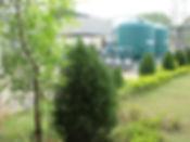 Greenery around Sewage Treatment Plant