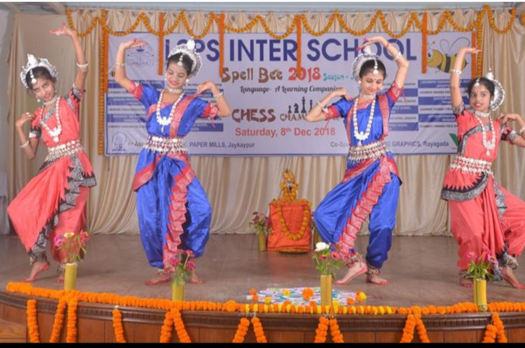 Odissi performance on the occasion of spell bee competition in our school