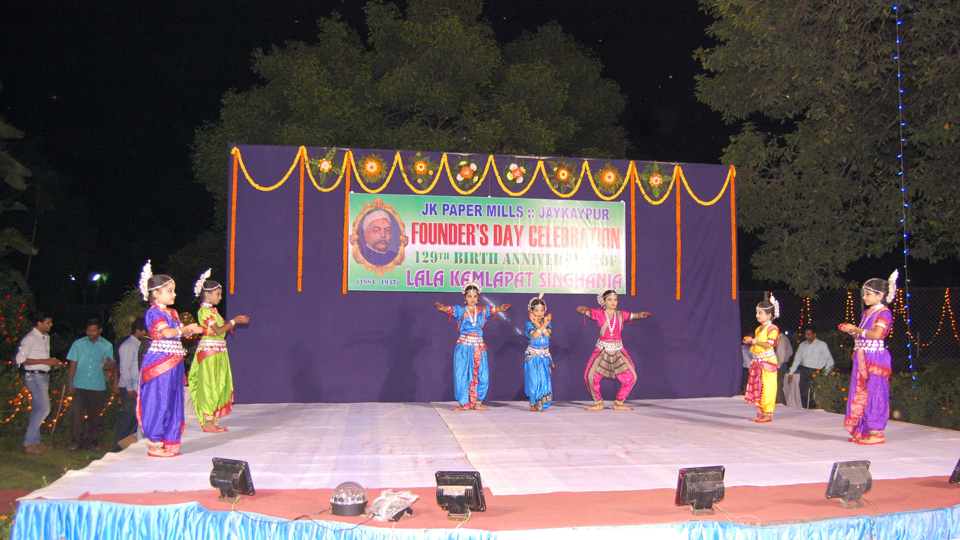 Odissi performance on the eve of founder's day JK Papaer Mills