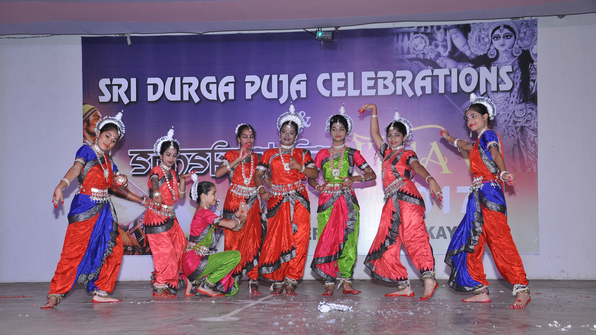 Odissi performance by students of our school on the occasion of Durga Puja