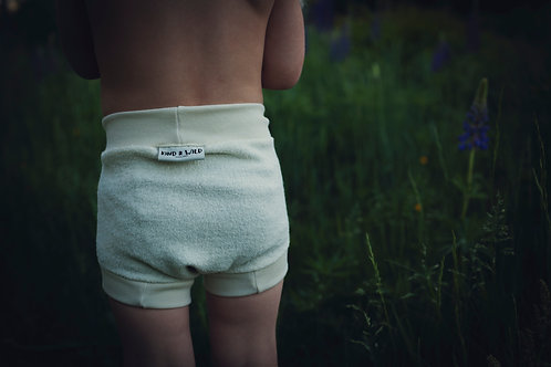 Wool Diaper Cover WHITE