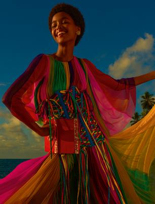 Top angolana Blésnya Minher é capa da Vogue Brasil de julho