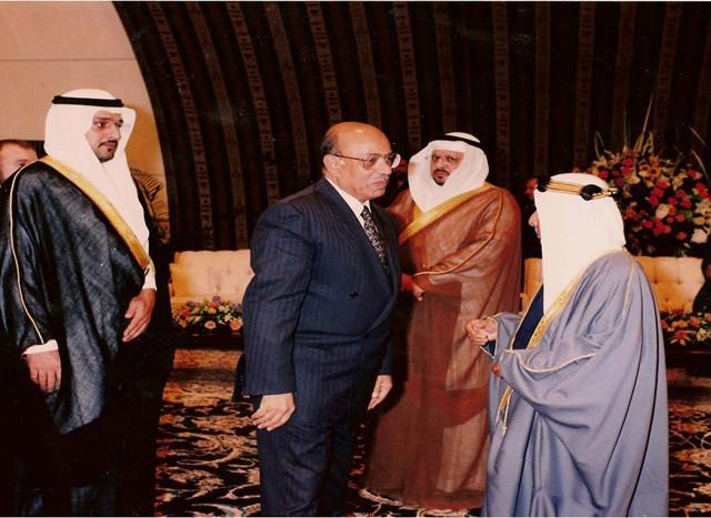 استقبال صاحب سمو امير البحرين رحمه الله الشيخ عيسى