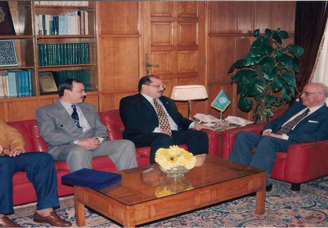 لقاء مع معالي امين جامعه الدول العربيه