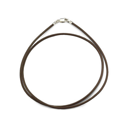 """36"""" Leather and Silver Necklace Cord"""