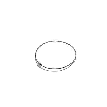 "8"" Steel Cable Bracelet"