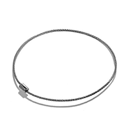 """17"""" Steel Cable Necklace"""